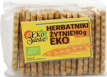 Herbatniki wegańskie żytnie BIO 190 g  (tast)