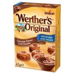 Karmelki o smaku czekoladowym bez cukru Werther's