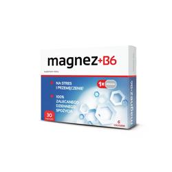 Magnez + Witamina B6 30 kapsułek