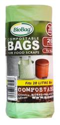 Worki na odpady BIO i zmieszane 20 l 20 szt. (kompostowalne i BIOdegradowalne)
